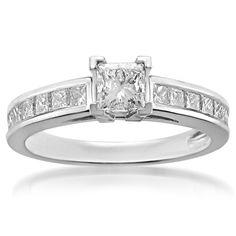 Princess Diamond Engagement Ring - http://www.inspirationsofcardiff.com/princess-diamond-engagement-ring/