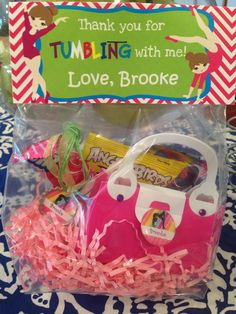 Party favors were a hit!  Brooke's 5th bday gymnastics theme.