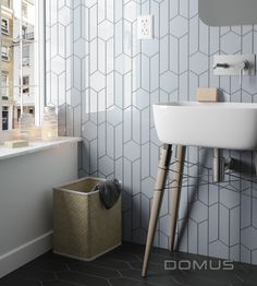 Picket, hex and chevron pattern tile!? Love.