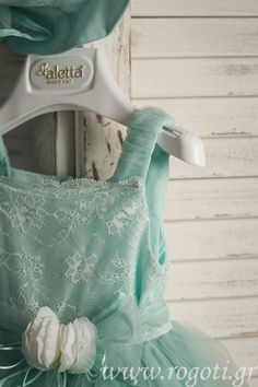Amazing dress in mint colour by Aletta.