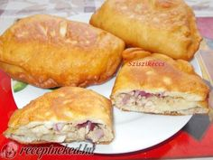 Csirkemellel töltött lángos recept Meat Recipes, Chicken Recipes, Recipies, Recipes From Heaven, Baked Goods, Breakfast Recipes, Food And Drink, Bread, Pizza