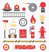 Iconos de bomberos.