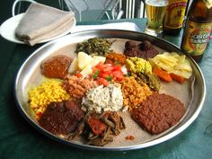 If you've never tried Ethiopean and Eritrean food, you're missing an outstanding meal. Backed the injera by Niat Products http://www.niatproducts.com/