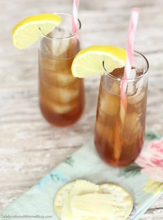 Bourbon Lemon Iced Tea - Celebrations at Home