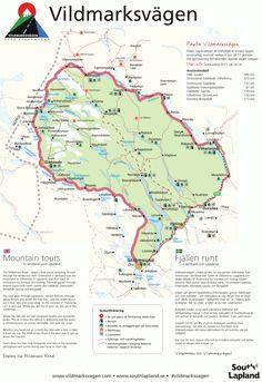 Informationskarta över Vildmarksvägen: Här hittar du allt