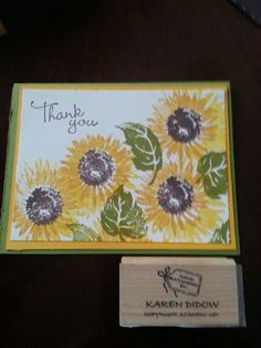Stampin up sunflowers