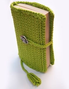 crochet book cover