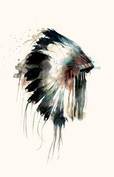 Headdress Art Print by Amy Hamilton