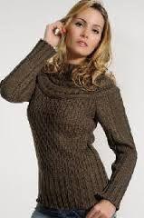 blusa de lã feminina receita trico - Pesquisa Google