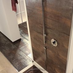 Corten Copper tile is made in Spain and stocked at Unique Tile – Fireplace tile ideas Shower Floor Tile, Wall And Floor Tiles, Metallic Wall Tiles, 12x24 Tile, Engineered Timber Flooring, Unique Tile, Tile Stores, Flooring Store, Modern Shower