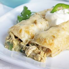 gluten free white chicken enchiladas