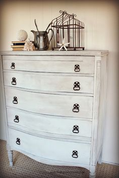 Pretty Dresser (Before & After) + how to use @Miss Mustard Seed wax @Danielle Driscoll