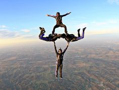 4-Way Skydive- Double Decker - Have always wanted to try this!!