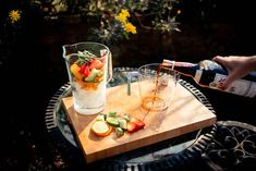 How to make the perfect pitcher of Pimm's No.1 Cup — Postcards from Hawaii Pimms Cocktail, Cocktails, Summertime Drinks, Summer Drinks, Fruit Scones, Fresh Mint Leaves, Mixed Fruit, Ginger Ale, 1 Cup