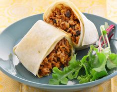 Need a quick dinner option? Cook up this yummy (and healthy!) two-bean burrito. Get the recipe here.
