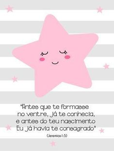 ESTRELINHA MENINA VERSÍCULO » Infantil Foam Crafts, Diy And Crafts, Baby Angel Tattoo, Cute Birthday Cards, Baby Posters, Lettering Tutorial, Baby Art, Baby Bedroom, Baby Decor