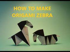 How to make Origami Zebra - YouTube