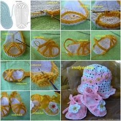 DIY Crochet Baby Sandal with Flower Decor