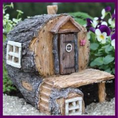 Fairy Garden Miniature Hidden Hollow Log Fairy House 1661 - Fairy Garden Fun