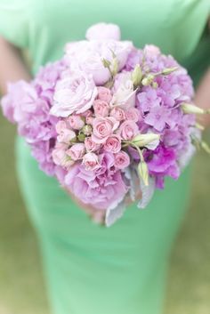 #hydrangeas, #bouquet, #rosePhotography: Jessica Claire - jessicaclaire.netRead More: http://stylemepretty.com/2013/09/11/los-angeles-wedding-from-jessica-claire/