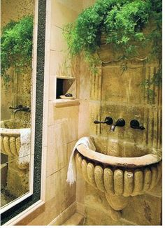 dream powder room,this might look great for an outdoor,shower bathroom,it will be private of course.