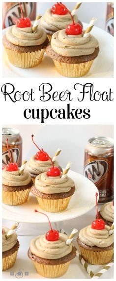 Root Beer Float Cupcakes - Butter With A Side of Bread                                                                                                                                                                                 More