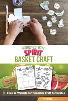 Fruit of the Spirit Lesson Kit — Teach Sunday School Bible School Crafts, Bible Crafts For Kids, Bible Study For Kids, Bible Lessons For Kids, Activities For Kids, Kids Bible, Sunday School Kids, Sunday School Lessons, Sunday School Crafts