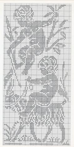 Filet Crochet, Crochet Patterns Filet, Crochet Stitches, Embroidery Patterns, Crochet Bedspread, Tapestry Crochet, Tapestry Weaving, Crochet Doilies, Cross Stitch Designs