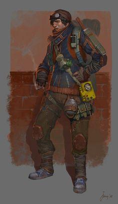 USSR post-apocalyptic characters, Eugene Postebaylo on ArtStation at https://www.artstation.com/artwork/ussr-post-apocalyptic-characters