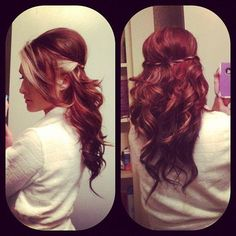 red with blonde in the front, less of a purple hue that this color has though.