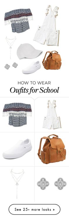 """""""Last day of 8th grade"""" by amiyafulton037 on Polyvore featuring Sans Souci, Hollister Co., Charlotte Russe, Van Cleef & Arpels, Le Donne and Vans"""