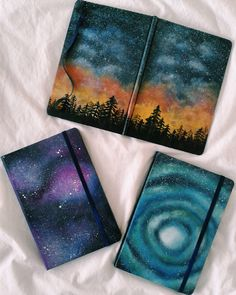 "108 Likes, 10 Comments - Dèmi Tyla Alwar (@demitylaalwar) on Instagram: ""Just started to create my own handpainted notebooks 😉  #Fit #Galaxy #GalaxyArt #HandPainted…"""