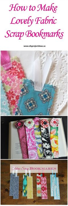 How to Make Lovely Fabric Scrap Bookmarks