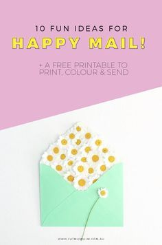 Do you like Happy Mail? Join my Happy Mail Project, make friends and starting sending mail all around the world {it's for kids and adults!}. Here's 10 fun ideas to get you started, and a free printable to help get you! Join today.
