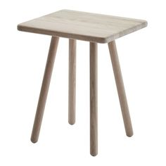 Skagerak's Georg side table is part of a charming collection of wooden furniture designed by Chris Liljenberg Halstrøm. The clean-lined table is made of FSC certified oak, and the small size makes it ideal for any room of the house. Wooden Furniture, Table Furniture, Furniture Design, Dream Furniture, Danish Design Store, Wooden Poles, Spacious Living Room, Light Oak, End Tables