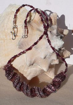 Cellini Spiral Necklace Spiral NecklaceCellini by mybeads4you, $60.00  One beautiful cellini necklace.  See more beaded jewelry at www.etsy.com/shop/MyBeads4You