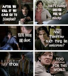 (gif set) Sam Winchester One Liners...the shoe one made me laugh for a long time!!