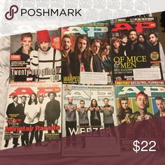 (5) AP magazines bundle Mayday Parade issue #328, Warped Tour '14 issue #213, Weezer issue #315, Warped Tour '15 issue #324, Of Mice And Men issue #308. If you'd like to purchase just one magazine, please comment which issue! $5 each Hot Topic Accessories