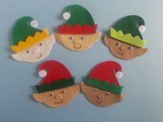 Five Little Elves  Felt Board Set Christmas by FeltBoardMagic