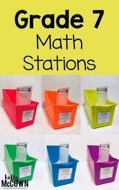 Ready for 7th Grade Middle School Math Stations? These are NO PREP and easy to implement in any classroom. Also available in the digital version! Every math standard for seventh grade is covered. Kids work independently to complete all tasks. A fun way to practice middle school math skills today! 7th Grade Math Problems, 7th Grade Math Worksheets, 8th Grade Math, Word Problems, Third Grade, Seventh Grade, Sixth Grade, Math Classroom Decorations, Math Word Walls