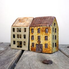 Yellow House Quayside Building Ceramic by BlueMagpieDesign on Etsy