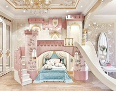 Bed For Girls Room, Bedroom Decor For Teen Girls, Cute Bedroom Ideas, Room Ideas Bedroom, Little Girl Rooms, Awesome Bedrooms, Baby Room Decor, Cool Rooms, Kids Bedroom Designs