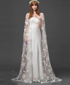 White/Ivory Lace Shawl Bolero Wedding Jacket Bridal Wrap Shrug Capes Custom Size #CloaksCapes