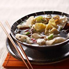 Soupe de raviolis chinois
