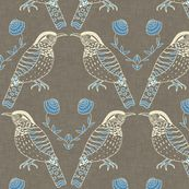 Wren fabric by Holli Zollinger . She has a lot of great prints!