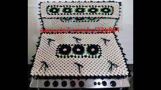 Capa para Fogão 6 Bocas de Crochê - Crochê Fácil