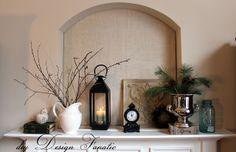 diy Design Fanatic: Winter Mantel