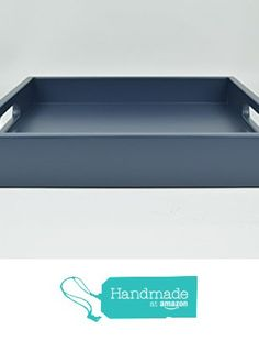 Decorative Handmade Tray with Handles Navy Blue Matte Lacquer from Gleaming Renditions http://www.amazon.com/dp/B016H0BNAM/ref=hnd_sw_r_pi_dp_M312wb1ABKYH8 #handmadeatamazon
