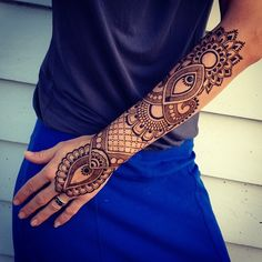 I don't want exact this but I want bad ass henna tattood on my hand