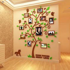 Botánico Pegatinas de pared Calcomanías 3D para Pared Calcomanías Decorativas de Pared,Vinilo Material Decoración hogareñaVinilos 5553791 2017 – $396.33